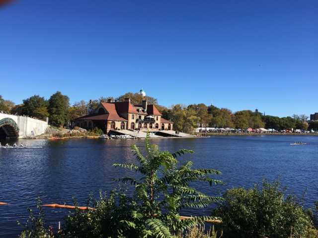 Harvard's Newell Boathouse...we tried to stop here once for a bathroom break and their sprinklers to keep the geese away turned on!!