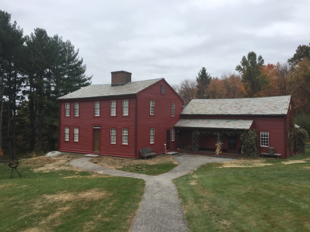 Fruitlands Farmhouse where the Alcott family lived in 1843