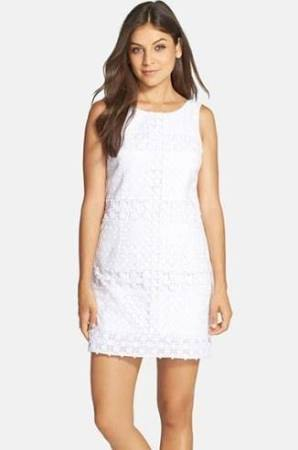 00859684c9425e I had been hunting for a LWD (little white dress) and I think this fits the  bill. shopping