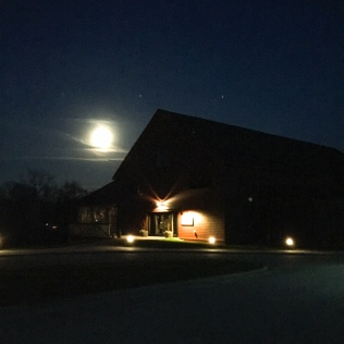 The Barn at Gibbet Hill under a full moon!